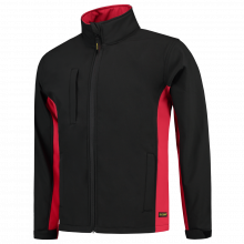 Soft Shell Jack | Bi-Color | Tricorp Workwear | 97TJ2000 Zwart / Rood