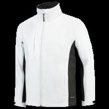 Soft Shell Jack | Bi-Color | Tricorp Workwear | 97TJ2000 Wit / Donkergrijs