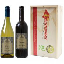 Rood & Wit | Merlot & Chardonnay | Met kist | Eigen etiket | Frankrijk