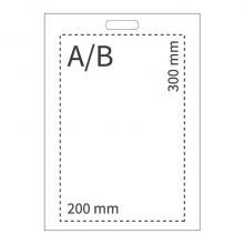 Plastic tas | A4 | Uitgesneden handvat | 108PS07