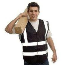 Veste de sécurité avec bandes réfléchissantes