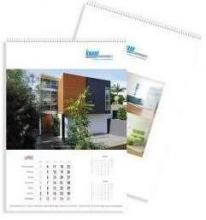 Hangende kalender met spiraal full colour