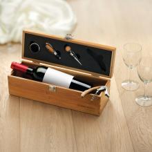 Wijnset in wijnkist