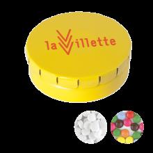 Gekleurd blikje | 12gram snoepjes | 72501120 Geel