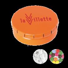Gekleurd blikje | 12gram snoepjes | 72501120 Oranje