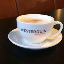 Cappuccino Tasse und Untertrasse