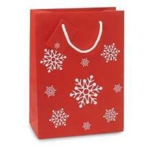 Geschenktas 'Sneeuw' Medium kerst