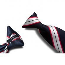 Geweven clipdas | Zuiver zijde | Eigen ontwerp