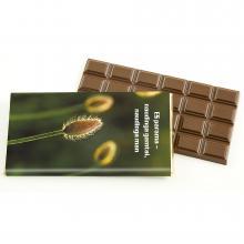 Belgische chocolade reepje met full colour wikkel