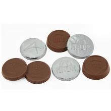 Chocolade rond met reliëf druk | 3,5 cm