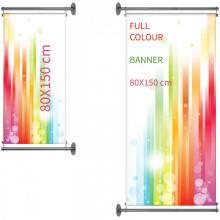 Gevelbanner | Full Colour | 80x150 cm