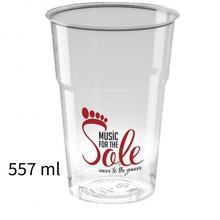 Plastic wegwerp glas | 557 ml