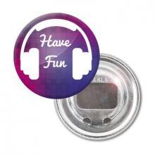 Button met flesopener full colour