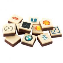 Schokolade mit Logo | 25 x 25 mm