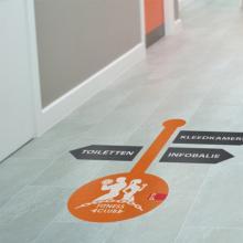 Bodenaufkleber | Indoor | 25x25 cm