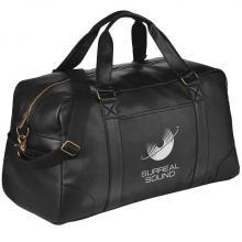 Schwarze Tasche mit Aufdruck