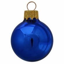 Gekleurde kerstbal   Glossy   Full colour   66 mm   121011 Blauw