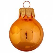 Gekleurde kerstbal   Glossy   Full colour   66 mm   121011 Oranje