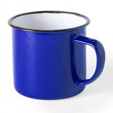 Emaille mokken bedrukken | 350 ml |  Vintage design | 155571 Blauw