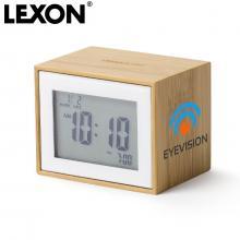 Lexon wekker | Bamboe | LCD