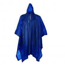 Poncho | Blauw | Capuchon | 0,13 mm PVC
