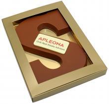 Chocoladeletter met logo
