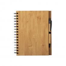 Hardcover notitieboekje | Bamboe | A5| Met pen