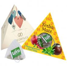 Piramide met 10 yerba mate zakjes | Full colour
