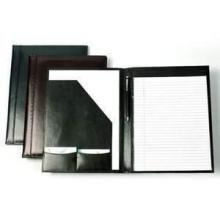 Schreibmappe DIN A4 Leder, Blinddruck