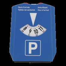 Parkeerschijf met ijskrabber en winkelwagenmuntjes   72817518 Donkerblauw