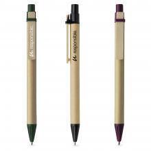 Eco pen | Biologisch afbreekbaar | Bruin/gekleurd