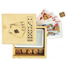 Speelkaarten + Dobbelspel   Bedrukking op doosje