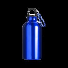 Sportfles met karabijnhaak | 400 ml | Gravering of opdruk | max141 Kobaltblauw