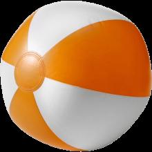 Strandbal | 26 cm | Witte vlakken  | 8039620 Oranje
