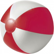 Strandbal | 26 cm | Witte vlakken  | 8039620 Rood