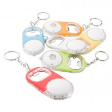 Flesopener | Led lampje | Sleutelhanger | Incl. batterijen