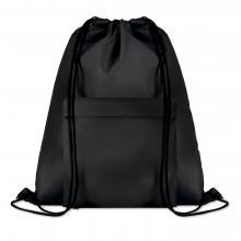 Polyester rugzakje | Met extra voorvak | Zware kwaliteit | 8759177 Zwart