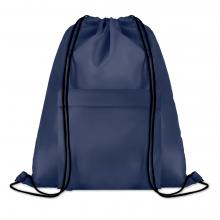 Polyester rugzakje | Met extra voorvak | Zware kwaliteit | 8759177 Blauw