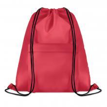 Polyester rugzakje | Met extra voorvak | Zware kwaliteit | 8759177 Rood