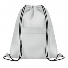 Polyester rugzakje | Met extra voorvak | Zware kwaliteit | 8759177 Wit