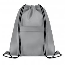 Polyester rugzakje | Met extra voorvak | Zware kwaliteit | 8759177 Grijs
