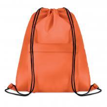 Polyester rugzakje | Met extra voorvak | Zware kwaliteit | 8759177 Oranje