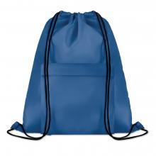 Polyester rugzakje | Met extra voorvak | Zware kwaliteit | 8759177 Koningsblauw