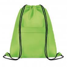 Polyester rugzakje | Met extra voorvak | Zware kwaliteit | 8759177 Groen
