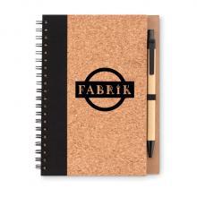 Ringband notitieboekje | Kurk | A5 | Met pen