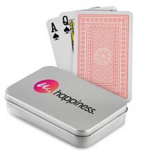 Speelkaarten   Bedrukt blikken doosje   Klassiek