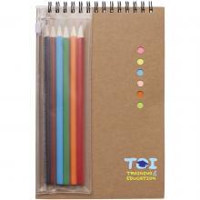 Set | sticky notes | potloden | papier