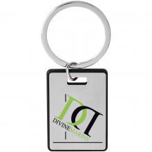 Porte clé cadeau | Bord coloré | Rectangulaire | En aluminium