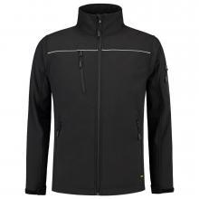 Soft Shell jack | Reflectiepiping | Tricorp Workwear | 97TSJ2000 Zwart