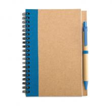 Notitieboekje | A6 | Eco | Met balpen | 8763775 Blauw